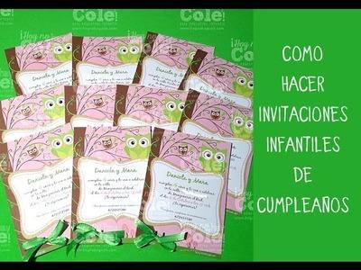 Invitaciones infantiles de cumpleaños