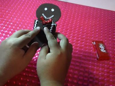 MUÑECO de JENGIBLE con CHOCOLATE regalo NAVIDEÑO.original y economico