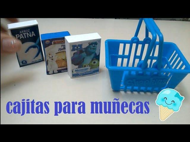 Productos de supermercado para muñecas CAJAS MINI