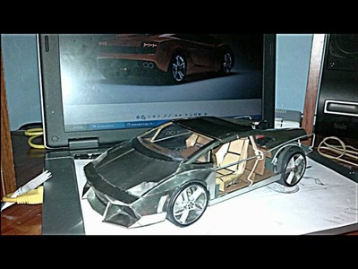 Proyecto paso a paso de fabricación de maqueta de Lamborghini Gallardo en lata de refresco