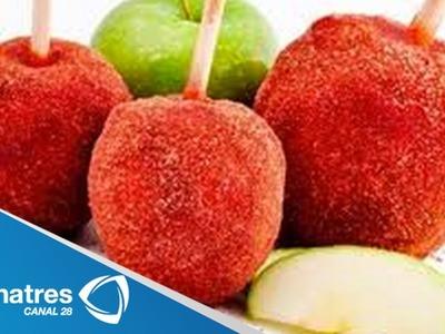 Receta para preparar manzanas cubiertas de chamoy. Cocinando con Yovanka Toxqui