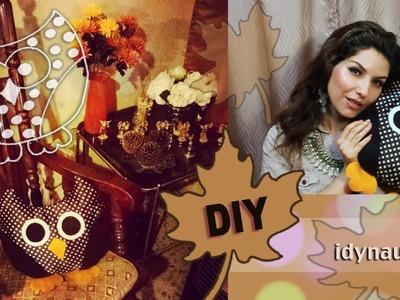 DIY: Almohada o Cojin de Búho ✿((( Especial Otono))) DIY: PILLOW OWL ✿