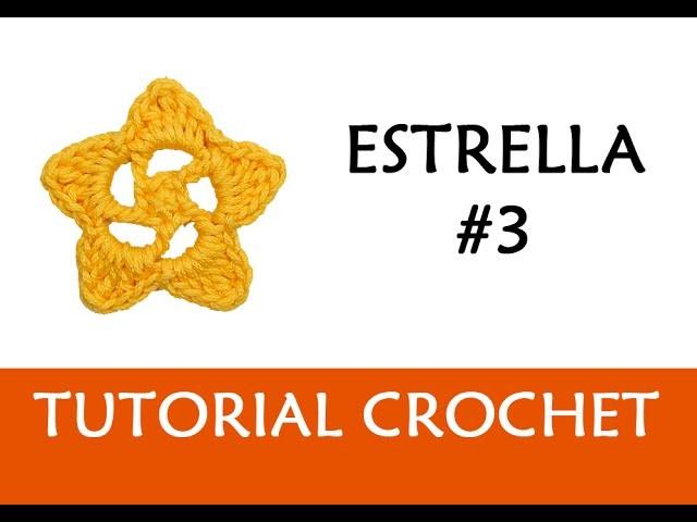 PATRÓN CROCHET: ESTRELLA #3 | Patrones Valhalla