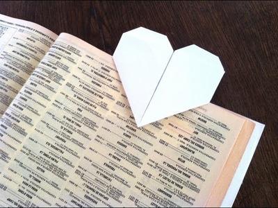 Tutorial para hacer punto de libro con forma de corazón