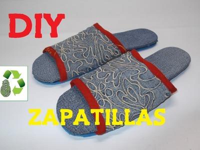 98. DIY ZAPATILLAS - SANDALIAS (RECICLAJE DE TELA)