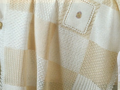 Colcha Variedad de Puntadas a Crochet