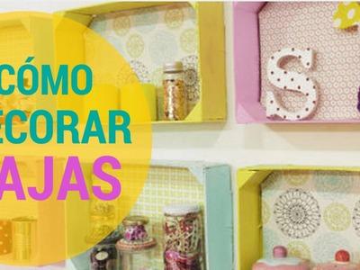 Cómo decorar Cajas de Fruta, Cajas de Madera y Cajas Recicladas con Telas Divinas. . en Español.