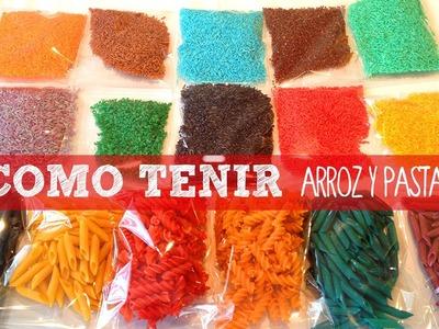 Cómo hacer arroz y pasta de colores para Manualidades