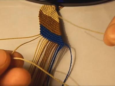 Como hacer la pulsera franja diagonal basica
