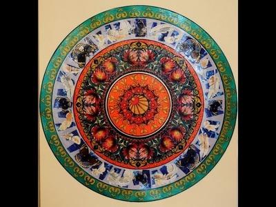 Como hacer un Mandala - Pinturas Liquidas - Decoupage - Conny Mellien Becker