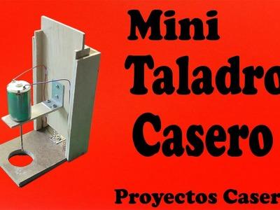 Cómo Hacer un Mini Taladro de Banco Casero (muy fácil de hacer)