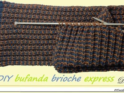 Cómo tejer bufanda brioche express con dos agujas