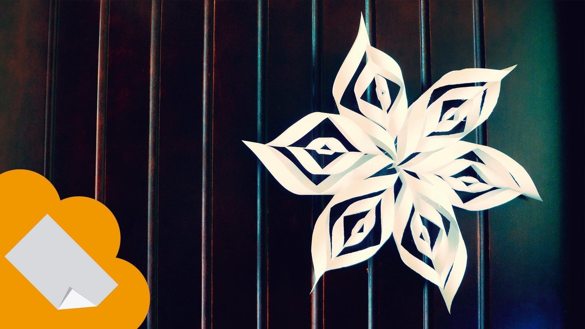 Copo de nieve estrella de papel