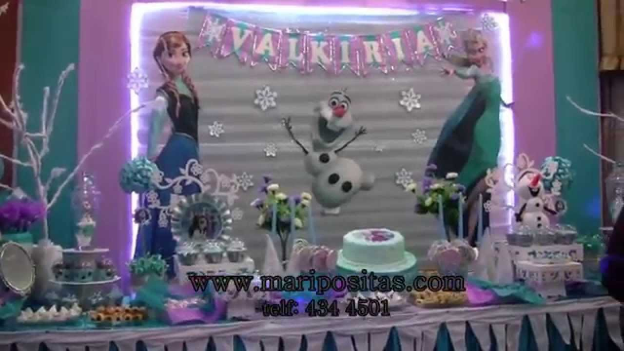 Decoracion de frozen en Lima