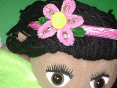 Diadema de florecita con Pompon y limpia pipas