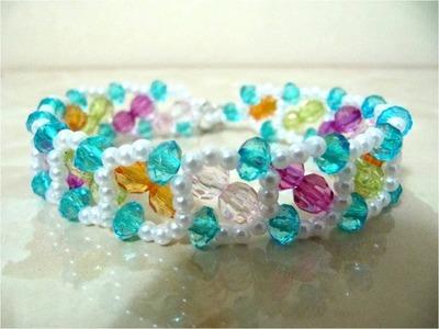 DIY accesorios de moda pulseras arco iris - DIY fashion accessories you rainbow bracelets