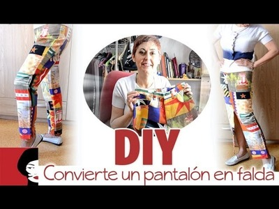 DIY: Convierte un pantalón en falda