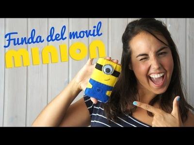 DIY Funda para el movil de fieltro de Los Minions