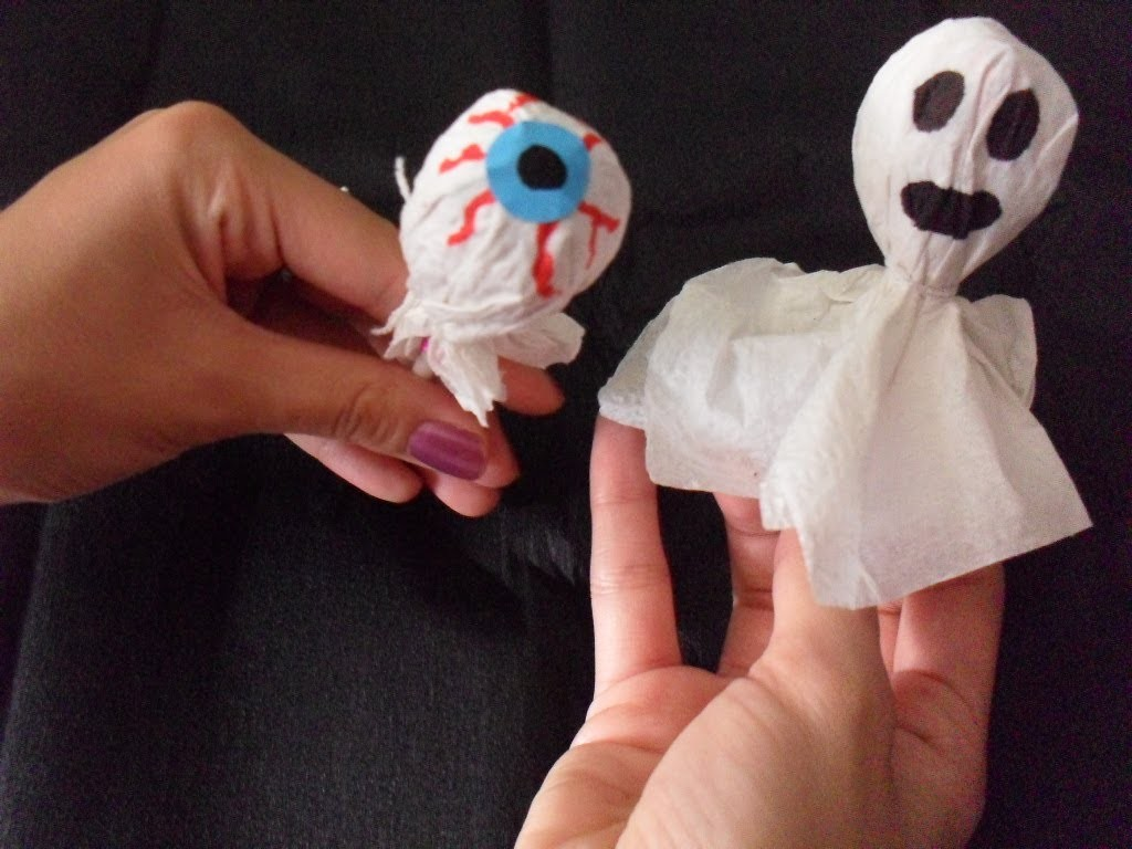 HALLOWEEN: Paletitas decoradas [FANTASMA Y OJO]