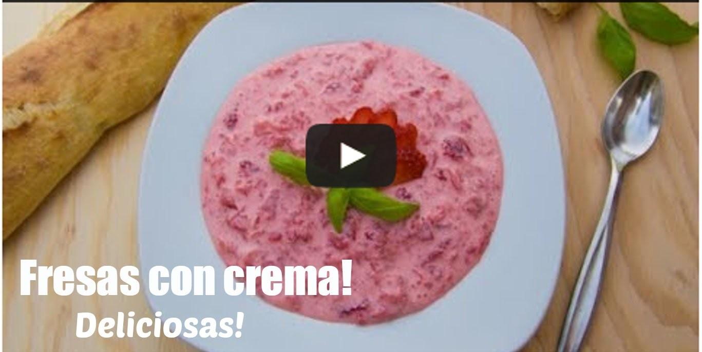 Haz Fresas con Crema (FÁCIL) + SORTEO CERRADO