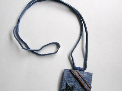 Imitación jeans en arcilla polimérica