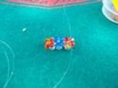 Instrucciones anillo con flores de abalorios