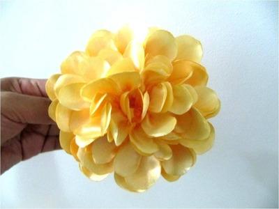 Moños en tela para el cabello  flores francesillas amarillas