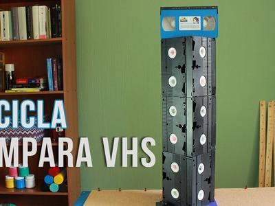 Recicla tus VIDEO CASETTE (VHS) en una LAMPARA RETRO ¡INCREIBLE!