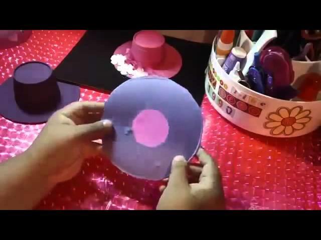 SOMBRERITO VINTAGE dulcero o porta regalo SORPRESA reciclado y ORIGINAL