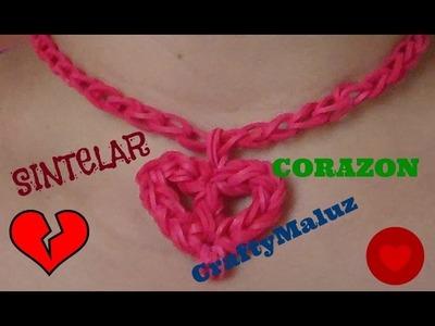 Tutorial: Collar de Corazon de gomitas o ligas sin telar