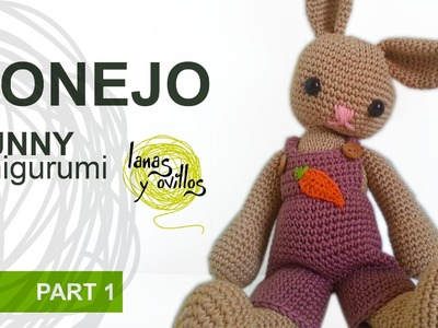 Tutorial Conejo Amigurumi Parte 1 Bunny (English Subtitles)