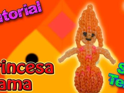 ♥ Tutorial: Princesa Flama o Llama de gomitas (sin telar) ♥
