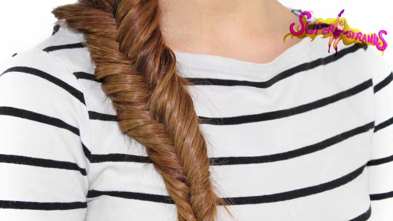 Tutorial: Una trenza de espina de pescado www.superstrandsextensiones.com Peinados