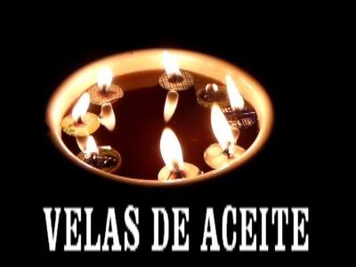 VELITAS DE ACEITE RECICLADO