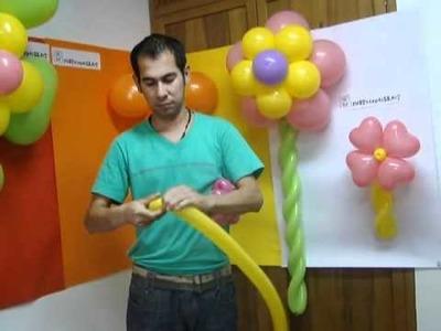 Www.fiestaexpress.net Como hacer una Flor con globos