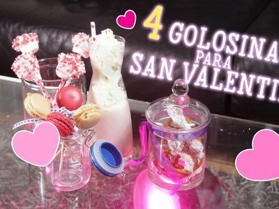 ♡ 4 Golosinas - Treats para San Valentin ♡
