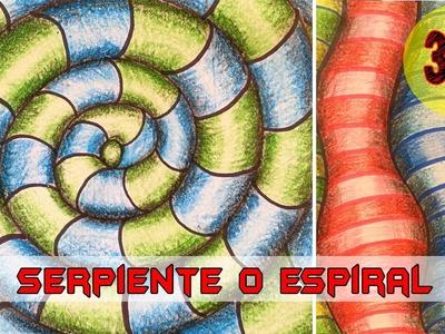 Dibujar en 3D : serpiente o espiral