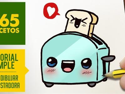 COMO DIBUJAR UNA TOSTADORA KAWAII PASO A PASO - Dibujos kawaii faciles - How to draw a una toaster