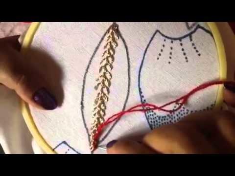 # 15 bordado fantasía pétalos de nochebuena ,hojas etc con cony