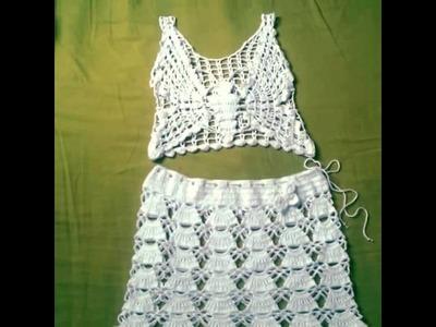 Conjunto hecho a crochet Modelo Mariposa 2 VID 20140225 174544