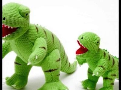 Dinosaurio Verde T Rex a Crochet Juguete Para Niños
