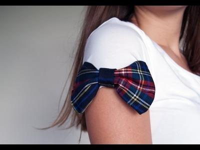 5 ideas para customizar una camiseta #4 toque de estampado. cómo hacer un lazo