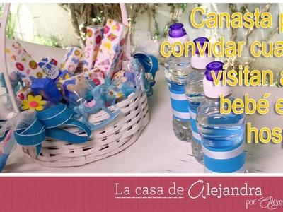Canasta para convidar cuando visitan a un bebé en el hospital DIY Alejandra Coghlan