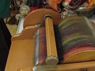 Cardar lana con Drum Carder