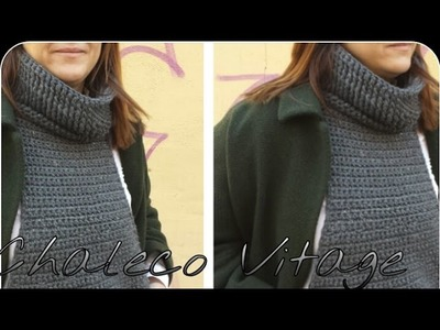Chaleco & Cuello Vintange paso a paso. And neck vest