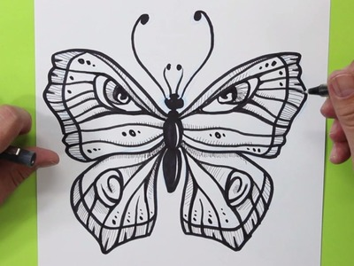 Cómo dibujar una Mariposa - How to draw a butterfly
