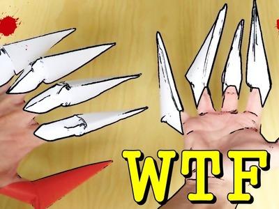 Cómo hacer GARRAS de Papel - Origami