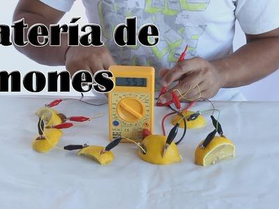 Cómo hacer una batería de limones, pila con un limón (Experimentos Caseros)