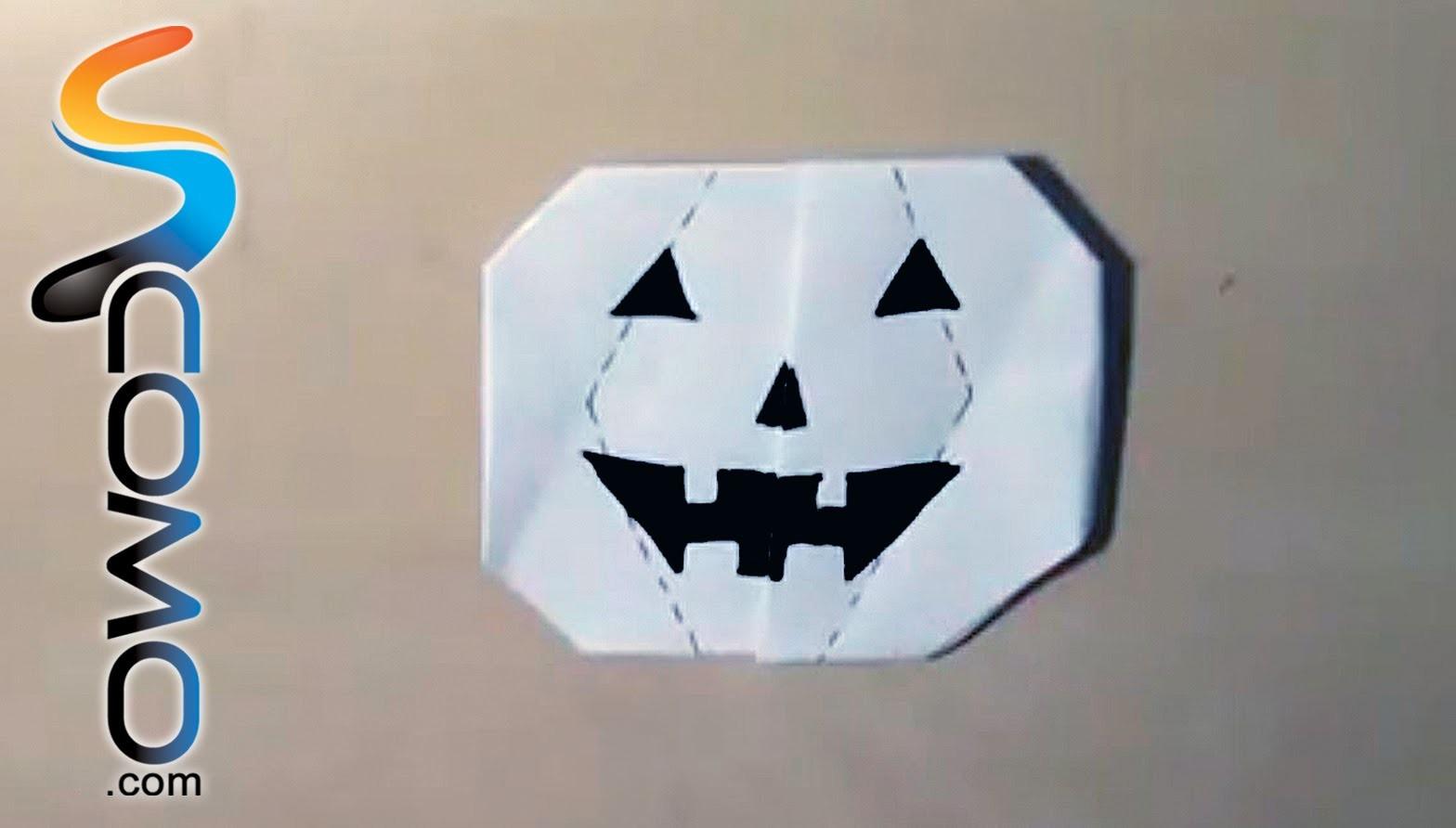Cómo hacer una calabaza con papel