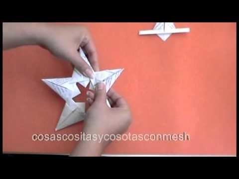Como hacer una estrella colgante